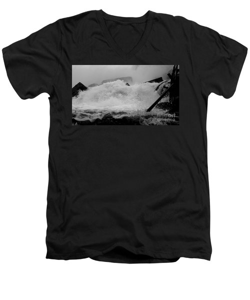 Rapids  Men's V-Neck T-Shirt by Raymond Earley