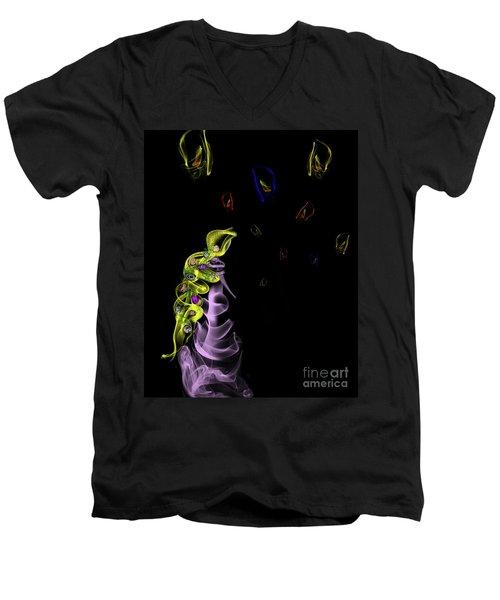 Rapunzel's Magic Flower Braid Men's V-Neck T-Shirt