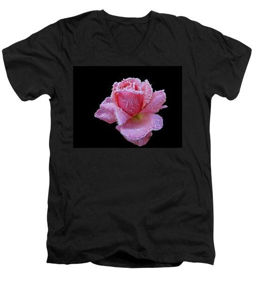 Rare Winter Rose Men's V-Neck T-Shirt