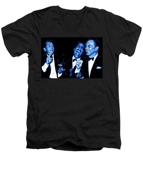 Rat Pack At Carnegie Hall Men's V-Neck T-Shirt