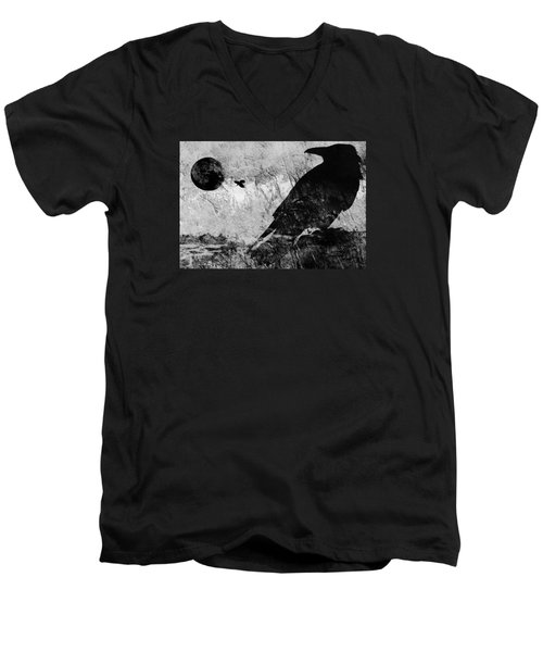 Raven Study 5 Men's V-Neck T-Shirt