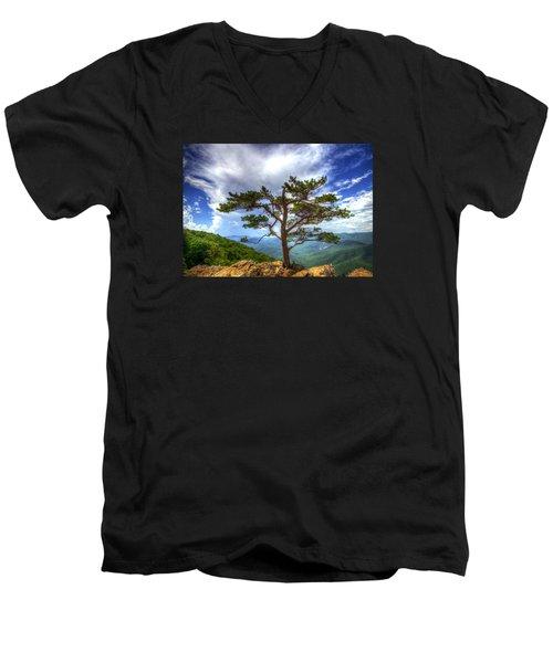Ravens Roost Tree Men's V-Neck T-Shirt by Greg Reed