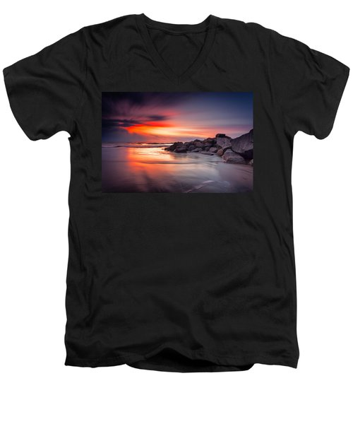 Ray Of Hope Men's V-Neck T-Shirt by Edward Kreis