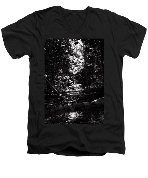 Men's V-Neck T-Shirt featuring the photograph Ray Of Light by Keith Elliott