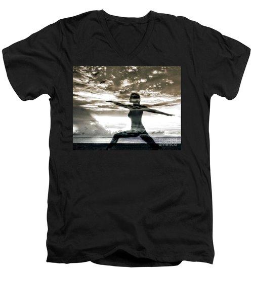 Reaching For Sunset Men's V-Neck T-Shirt