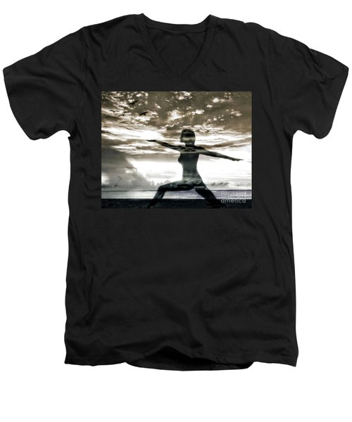 Reaching For Sunset Men's V-Neck T-Shirt