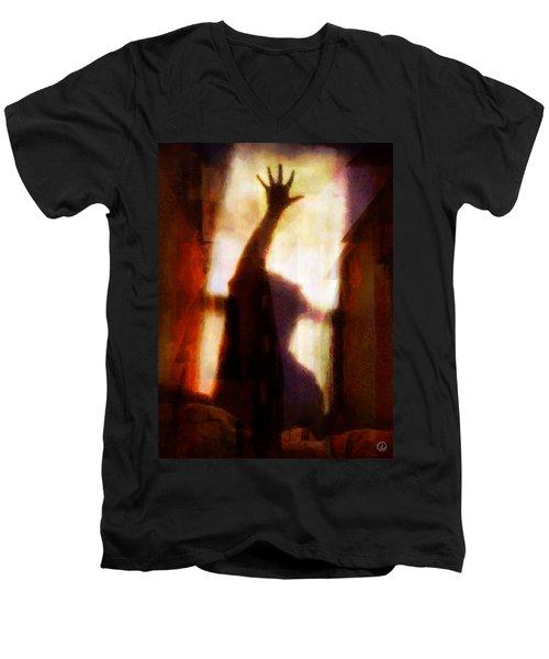 Reaching For The Light Men's V-Neck T-Shirt by Gun Legler