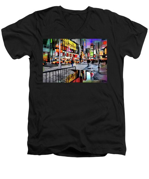 Men's V-Neck T-Shirt featuring the photograph Ready Or Not by Diana Angstadt