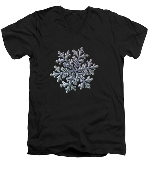 Real Snowflake - Hyperion Black Men's V-Neck T-Shirt
