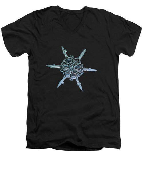 Real Snowflake Photo - The Shard Men's V-Neck T-Shirt