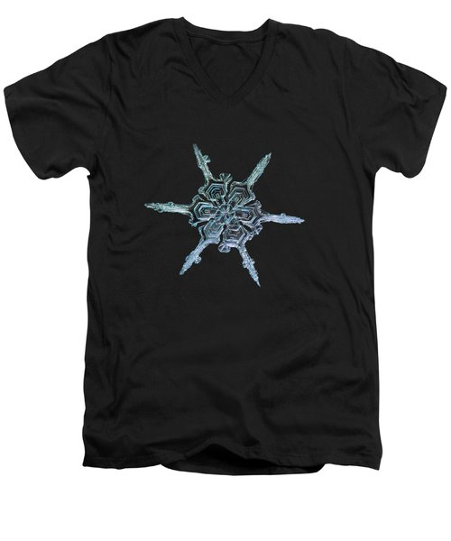 Real Snowflake Photo - The Shard Men's V-Neck T-Shirt