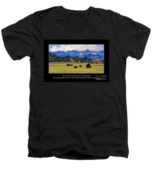 Reap A Harvest Men's V-Neck T-Shirt
