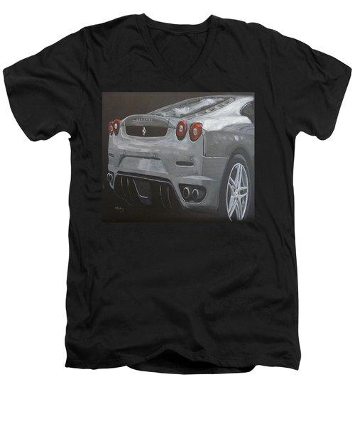 Rear Ferrari F430 Men's V-Neck T-Shirt