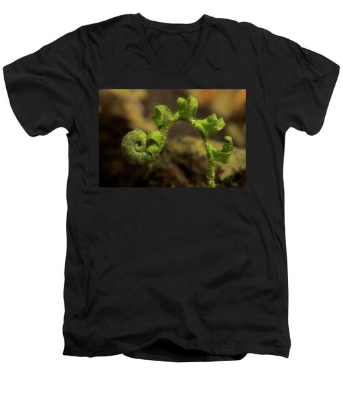 Men's V-Neck T-Shirt featuring the photograph Rebirth by Mike Eingle