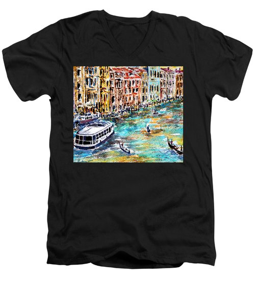 Recalling Venice 01 Men's V-Neck T-Shirt by Alfred Motzer