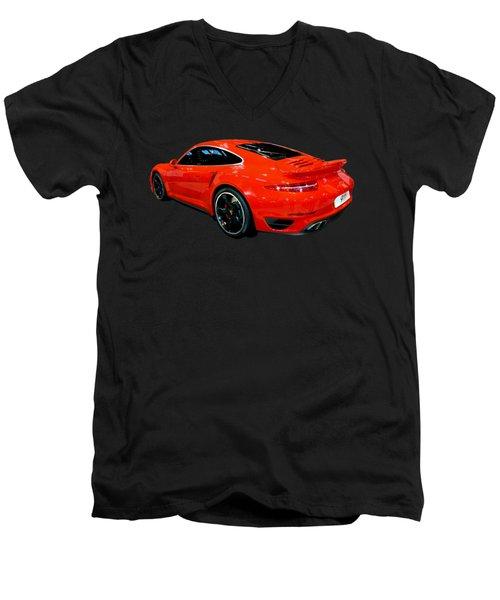 Red 911 Men's V-Neck T-Shirt