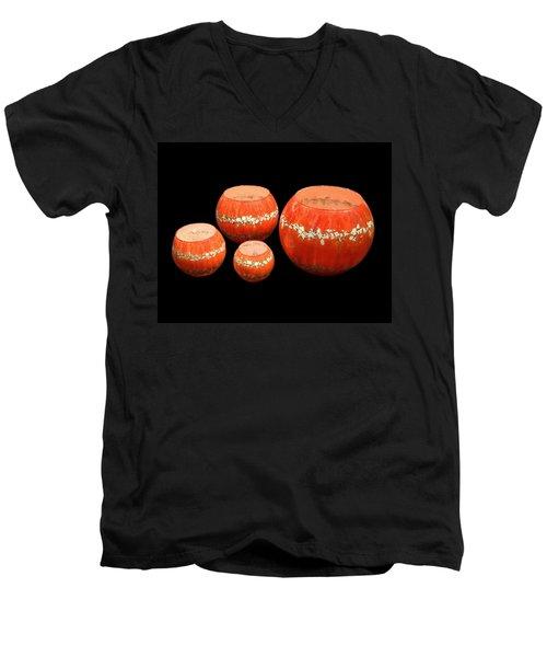 Red And White Bowls Men's V-Neck T-Shirt