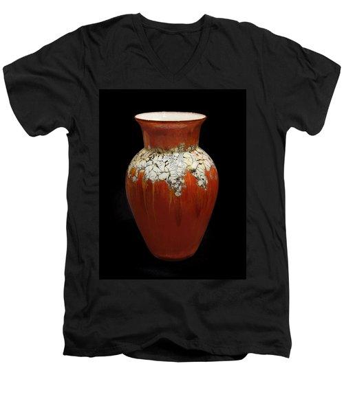 Red And White Vase Men's V-Neck T-Shirt