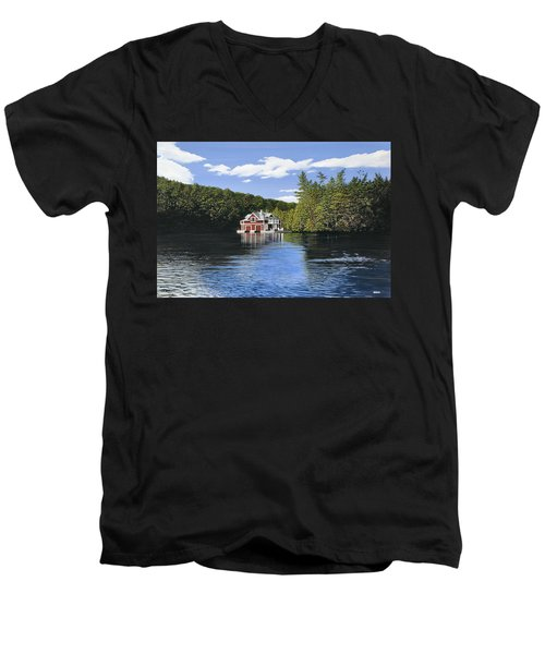 Red Boathouse Men's V-Neck T-Shirt
