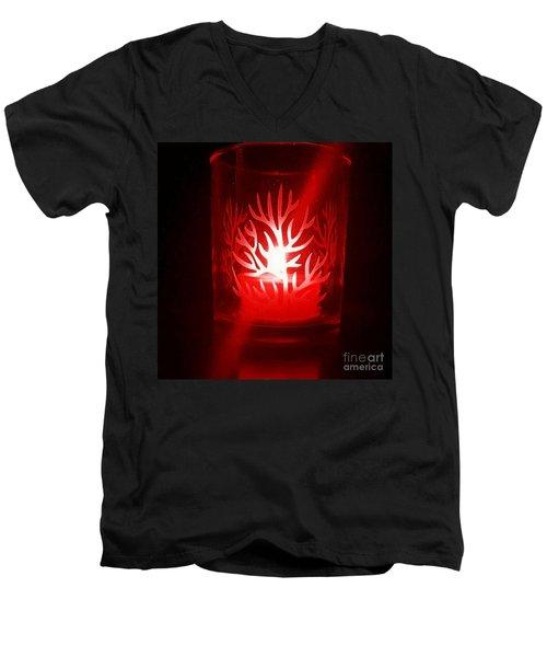 Red Candle Light Men's V-Neck T-Shirt