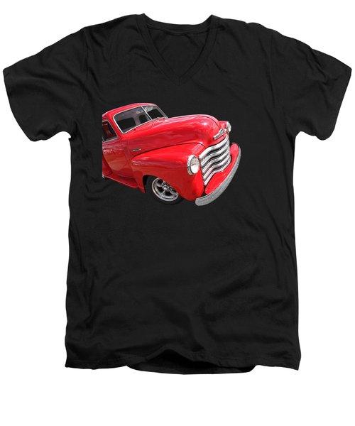 Red Chevy Pickup Men's V-Neck T-Shirt