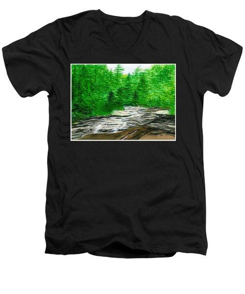 Red Creek Men's V-Neck T-Shirt