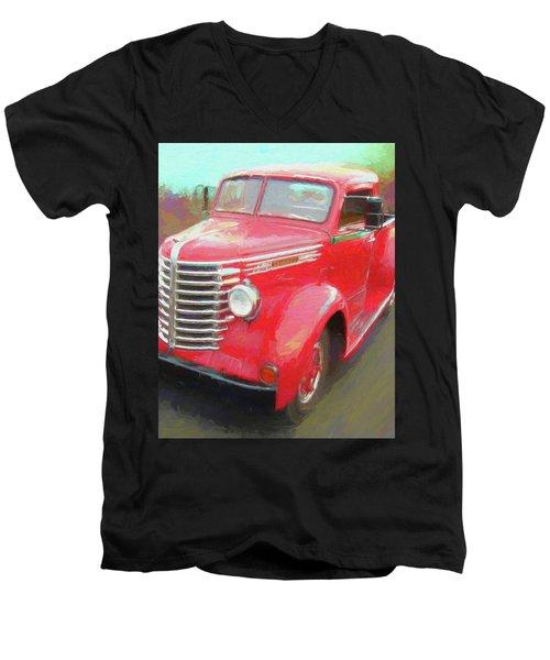 Red Diamond Men's V-Neck T-Shirt
