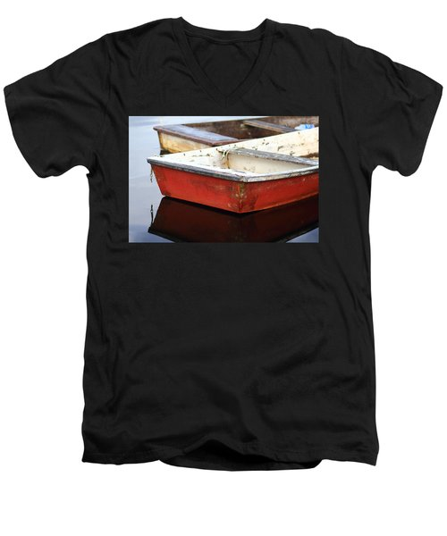 Red Dingy Men's V-Neck T-Shirt