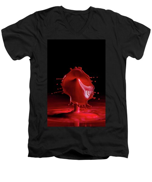 Red Drop Men's V-Neck T-Shirt