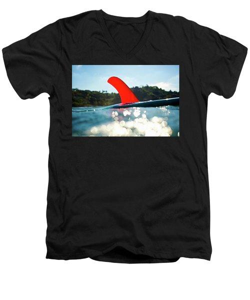 Red Fin Men's V-Neck T-Shirt
