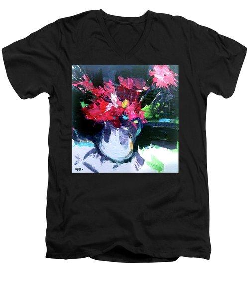 Red Glow Men's V-Neck T-Shirt