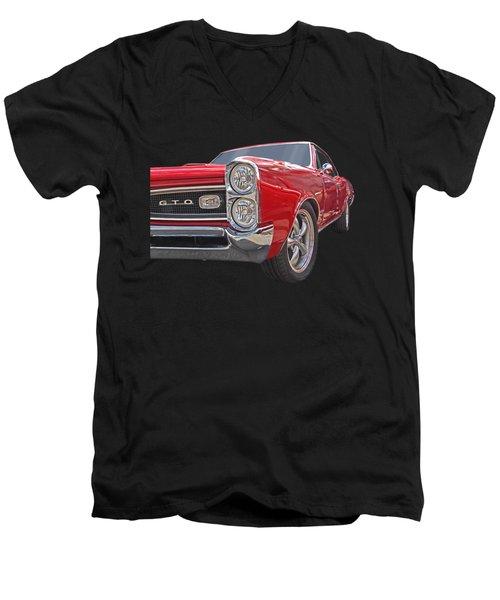 Red Gto Men's V-Neck T-Shirt by Gill Billington