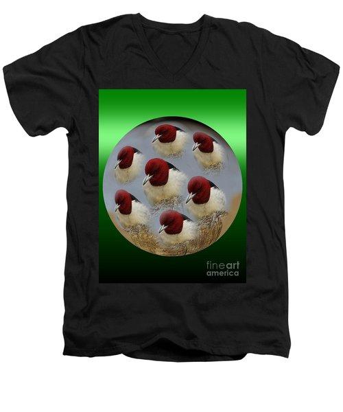 Red Head Men's V-Neck T-Shirt