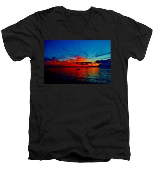 Red Horizon Men's V-Neck T-Shirt