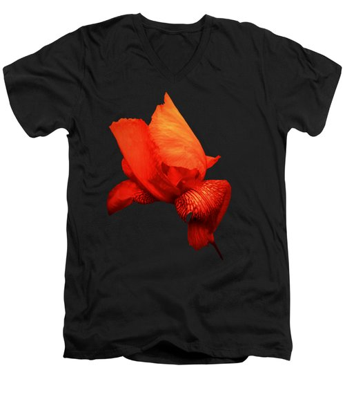 Red Iris Men's V-Neck T-Shirt