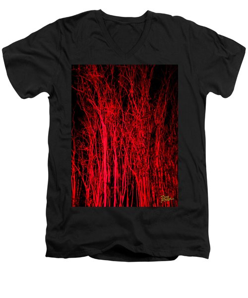 Red Magic Men's V-Neck T-Shirt by Doug Kreuger