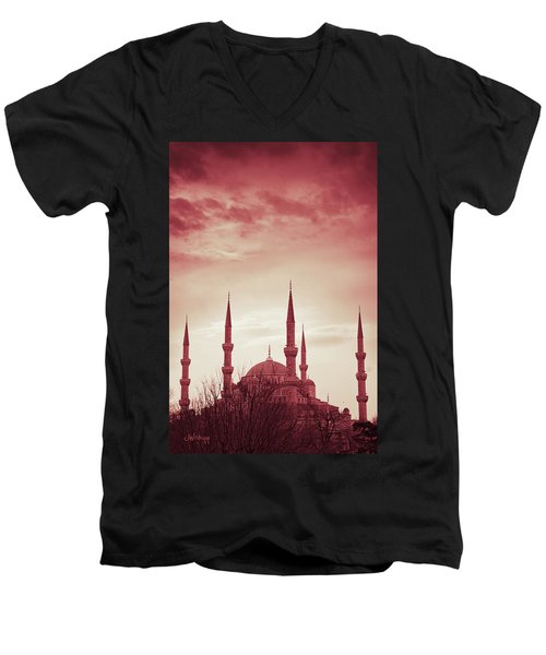 Red Peace Men's V-Neck T-Shirt
