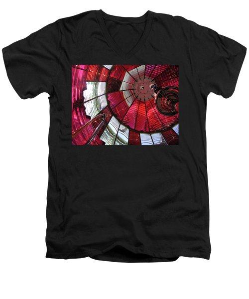 Red Reflections Men's V-Neck T-Shirt