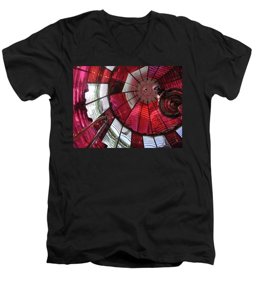 Red Reflections Men's V-Neck T-Shirt