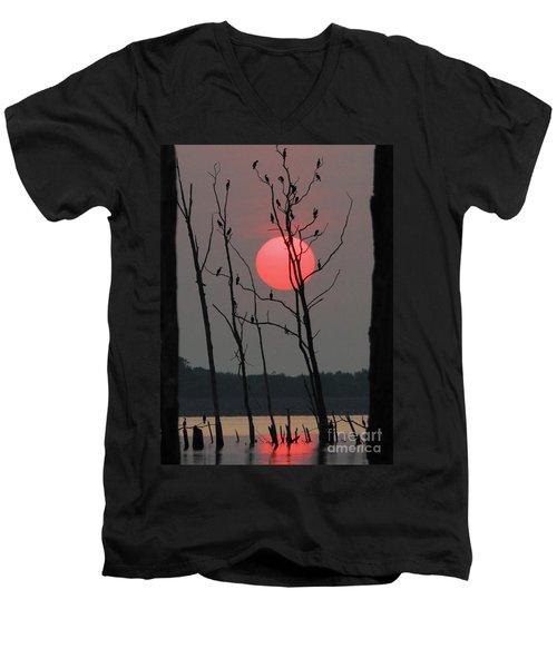 Red Rise Cormorants Men's V-Neck T-Shirt