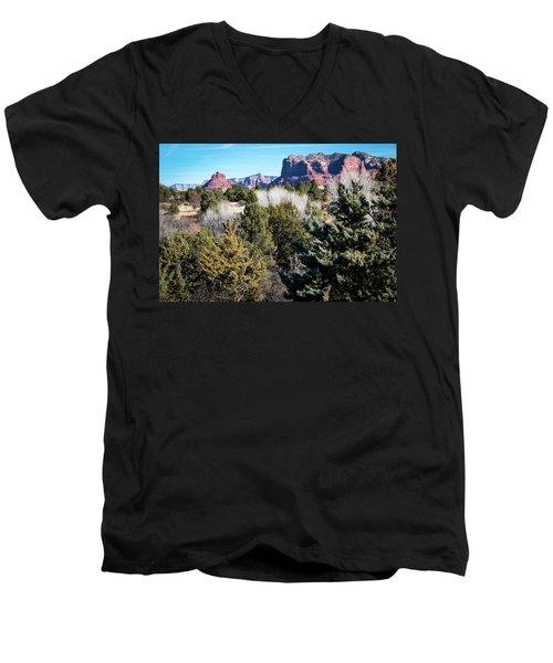 Red Rock Country Men's V-Neck T-Shirt