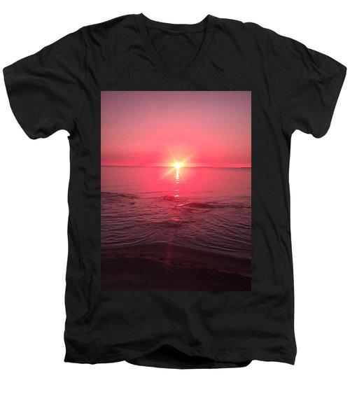 Red Sky Sunset Men's V-Neck T-Shirt