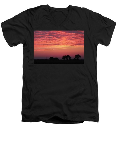 Red Sunrise Men's V-Neck T-Shirt