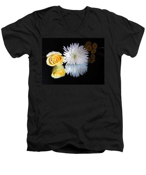 reflected Flowers Men's V-Neck T-Shirt
