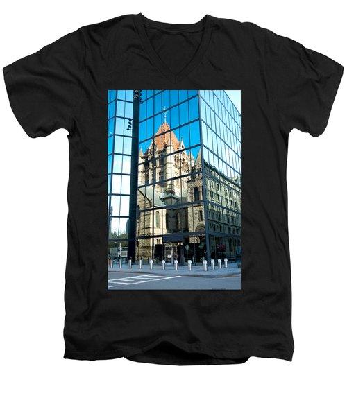 Reflecting On Religion Men's V-Neck T-Shirt by Greg Fortier