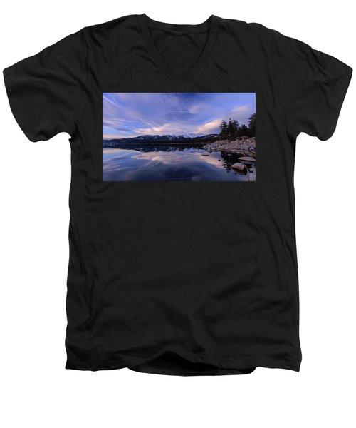 Reflection In Winter Men's V-Neck T-Shirt