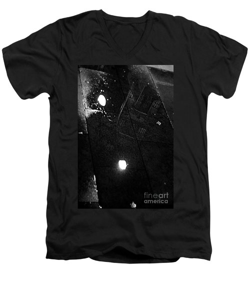 Reflection Of Wet Street Men's V-Neck T-Shirt