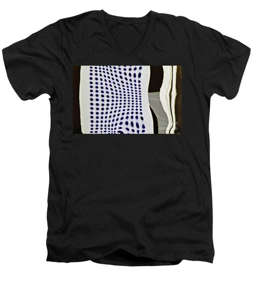 Men's V-Neck T-Shirt featuring the photograph Reflection On 42nd Street 2 Negative by Sarah Loft