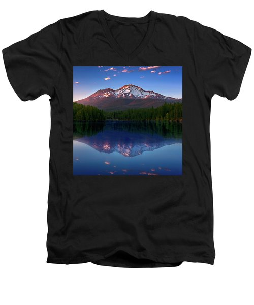 Reflection On California's Lake Siskiyou Men's V-Neck T-Shirt