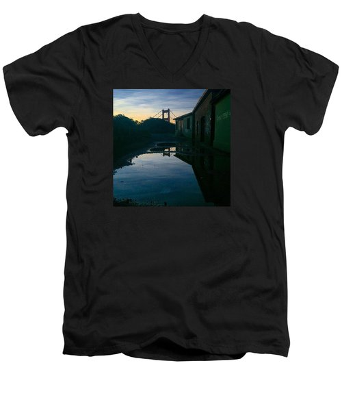 Reflecting On Past Wars Men's V-Neck T-Shirt by Eugene Evon